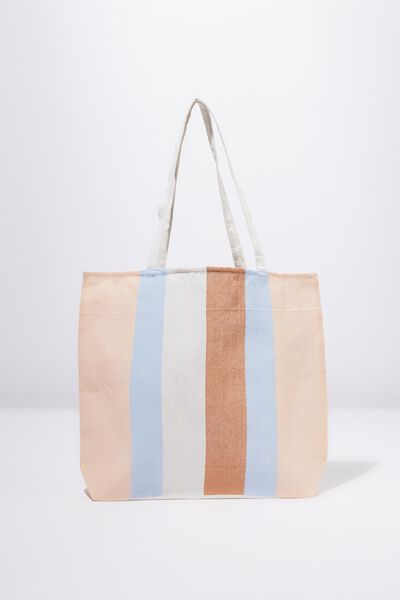 Foundation Tote Bag Adults, DUSTY STRIPE