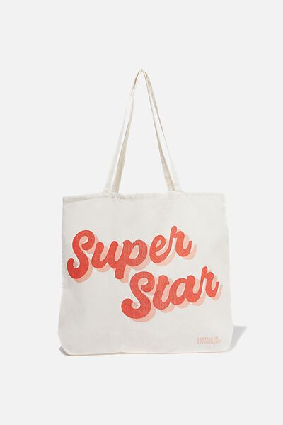 Foundation Kids Tote Bag, SUPER STAR