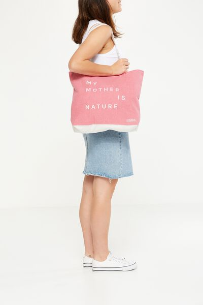 Body Tote Bag, MY MOTHER IS NATURE
