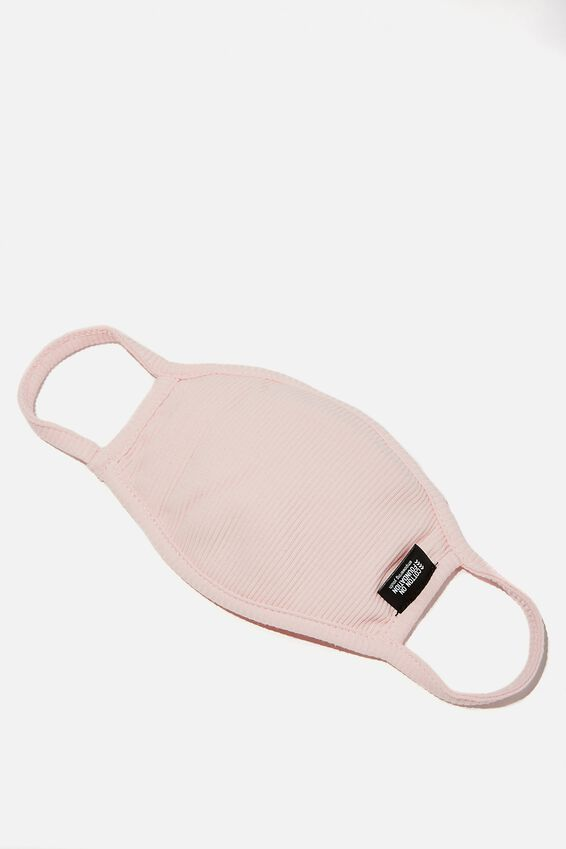 Foundation Rib Face Mask, LIGHT PINK