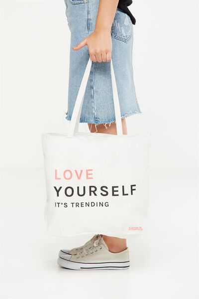 Body Tote Bag, LOVE YOURSELF