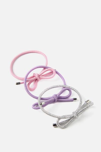 Bow Hair Band Pack, ORCHID BLOOM