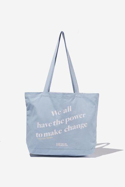 Foundation X Nomzamo Tote Bag, BLUE