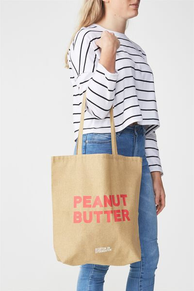 Cotton On Foundation Tote, PEANUT BUTTER
