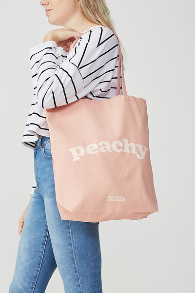 Cotton On Foundation Tote, PEACHY