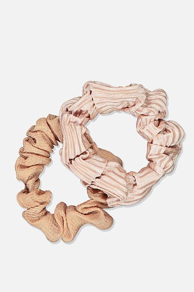 Cof Mini Scrunchie 2Pk, DUSTY PINK