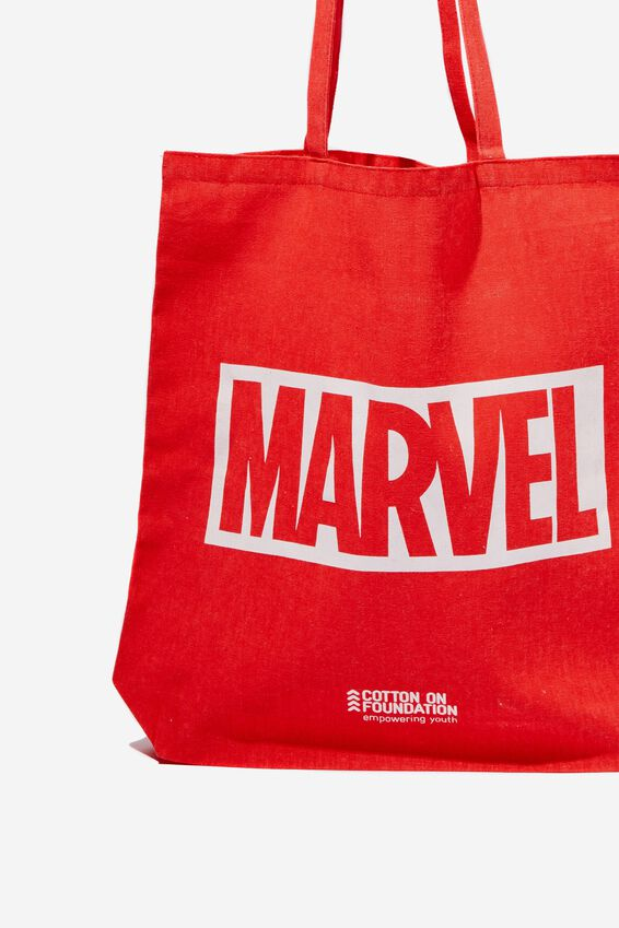 Foundation & Friends Tote Bag, MARVEL LOGO