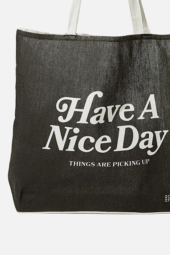 Foundation Co Brands Tote Bag, HAVE A NICE DAY