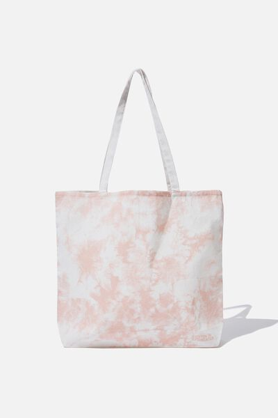 Foundation Tote Bag Adults, PINK TIE DYE
