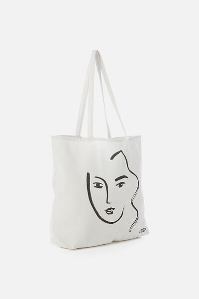 Cotton On Foundation Tote, FACE ART