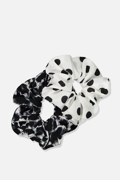 Large Scrunchie 2Pk, SPOT_ANIMAL