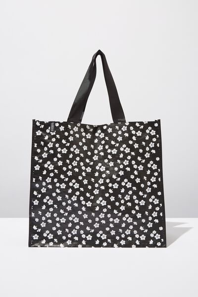 Kids Large Shopper, MONOCHROME DITZY