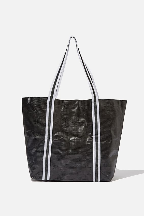 Foundation  Large Shopper, BLACK AND WHITE