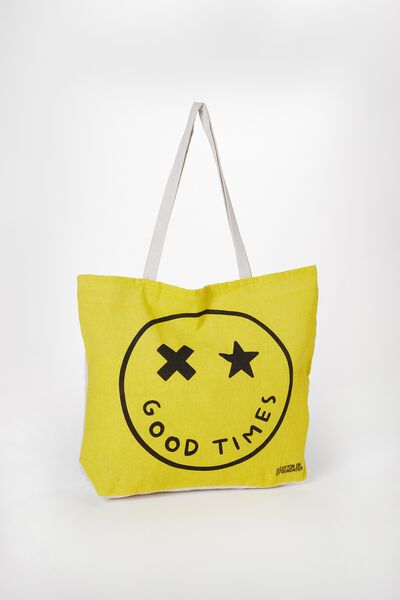 Foundation Kids Tote Bag, GOOD TIMES SMILE