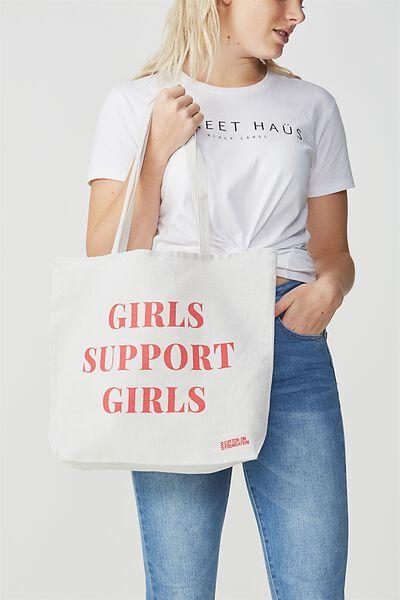 Body Tote Bag, GIRLS SUPPORT GIRLS