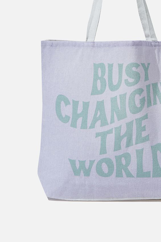 Foundation Kids Tote Bag, BUSY CHANGING THE WORLD