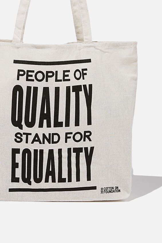 Typo Difference Tote Bag, PEOPLE OF QUALITY