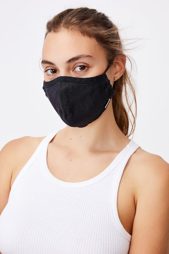 Foundation Hemp Face Mask, BLACK