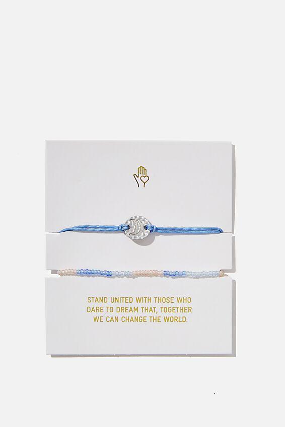 Foundation Charm Friendship Bracelets, LAVENDER