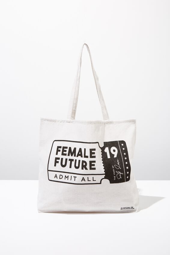 Typo Difference Tote Bag, FEMALE FUTURE