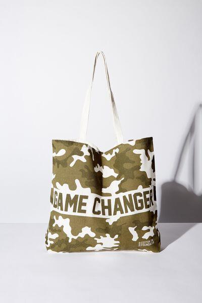 Foundation Kids Tote Bag, GAME CHANGER