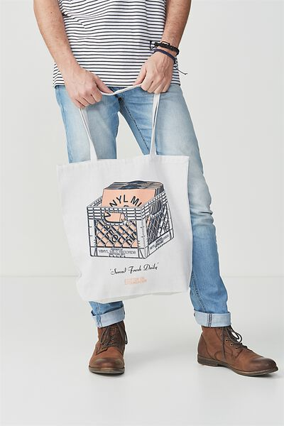 Cotton On Foundation Tote, VINYL MILK RECORDS