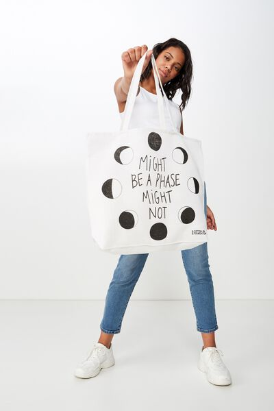 Typo Difference Tote Bag, MIGHT BE A PHASE