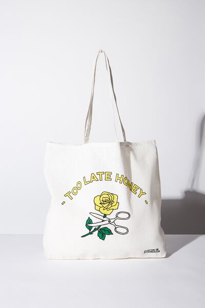 Cotton On Ladies Foundation Tote, TOO LATE HONEY