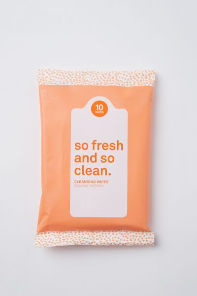 The 100% Difference Cleansing Wipes, COCONUT/ORANGE