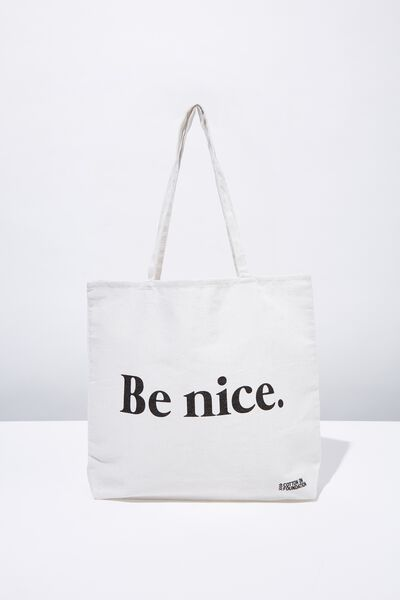 Foundation Tote Bag Adults, BE NICE