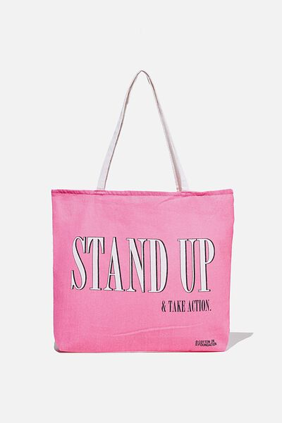 Foundation Co Brands Tote Bag, STAND UP RASPBERRY SODA