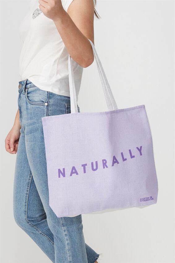 Body Tote Bag, NATURALLY
