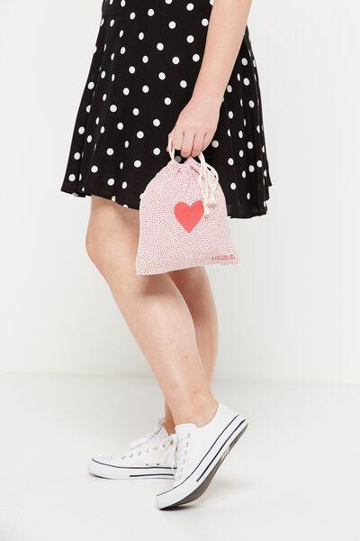 Cob Small Gift Bag, SMALL LOVE HEART