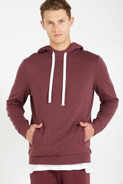 Coar Performance Double Knit Pullover, FIG HEATHER