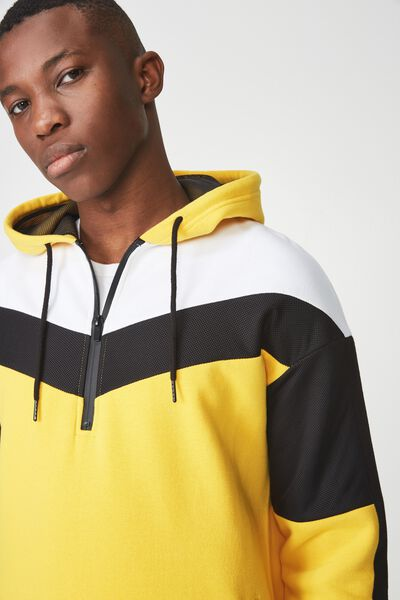 Active Pullover Fleece, SAFETY YELLOW/BLACK/WHITE