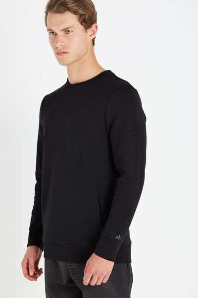 Coar Performance Double Knit Crew, BLACK