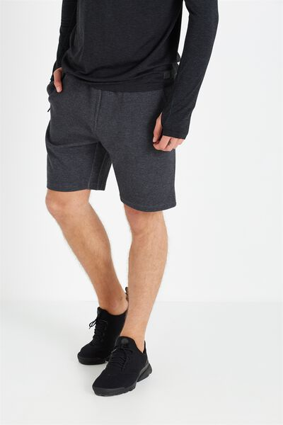 Coar Tech Track Short, BLACK HEATHER