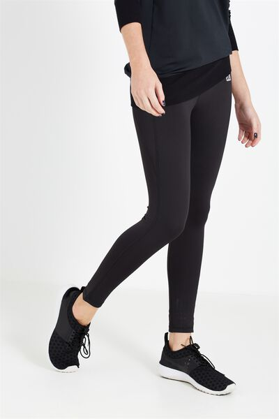 Coar Fitness Full Length Tight, BLACK