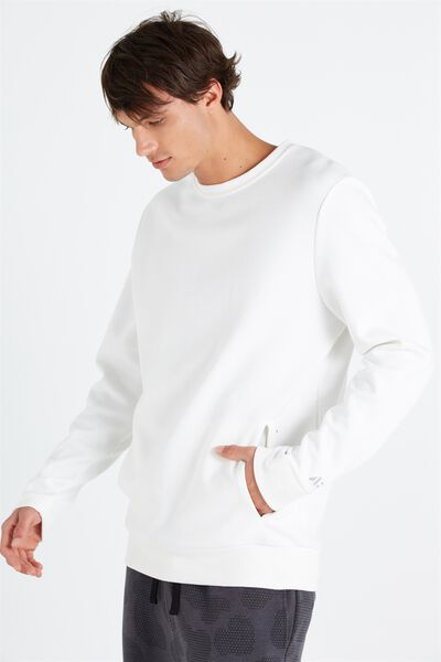Coar Performance Double Knit Crew, WHITE