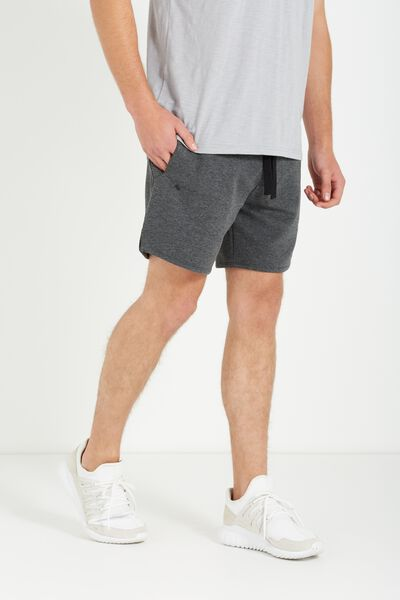 Coar Performance Double Knit Short, CHARCOAL HEATHER