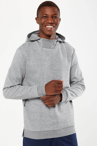Coar Performance Double Knit Hoodie, LIGHT GREY MARLE