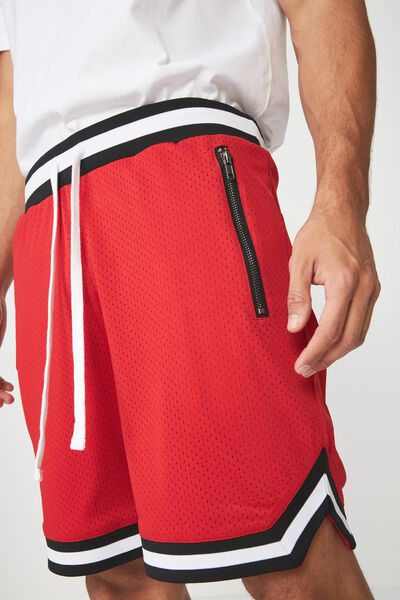 Active Knit Short, RED / MESH