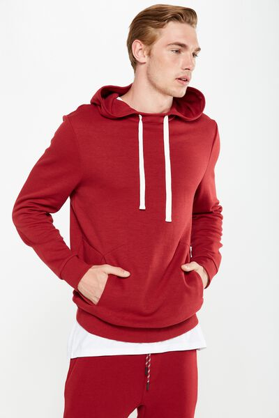 Coar Performance Double Knit Pullover, FOX RED