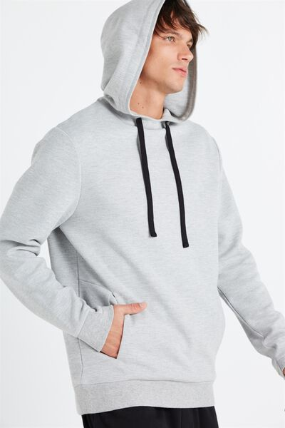 Coar Performance Double Knit Pullover, LIGHT GREY MARLE