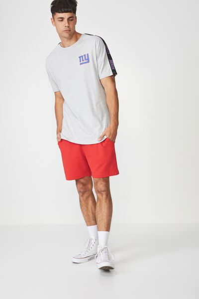 Active Drop Shoulder Longline Tee, LIGHT GREY MARLE/NY GIANTS