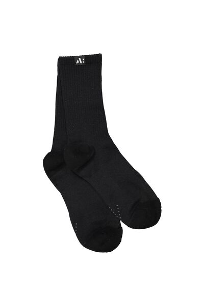 Coar Crew Sport Sock, BLACK/WHITE
