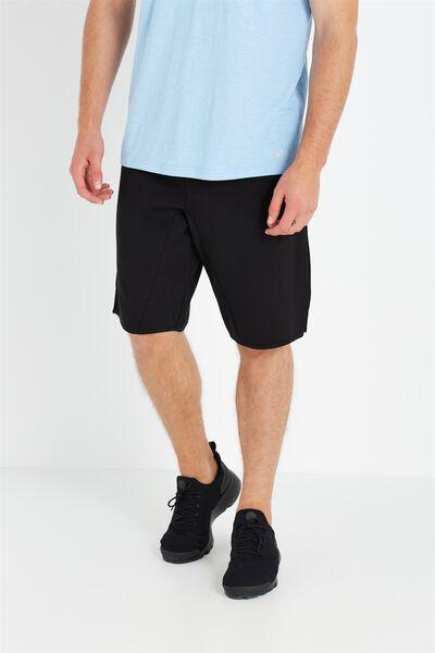 Coar Long Line Double Knit Short, BLACK