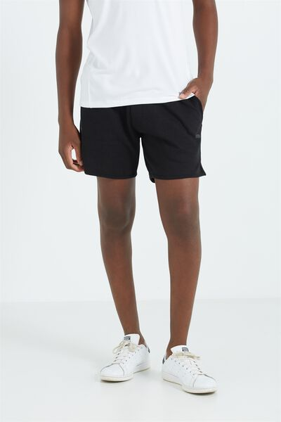 Coar Performance Double Knit Short, BLACK