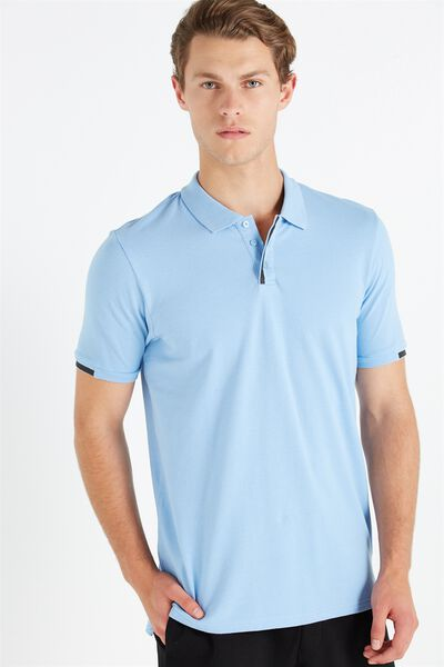 Coar Urban Tech Polo, CHAMBRAY BLUE