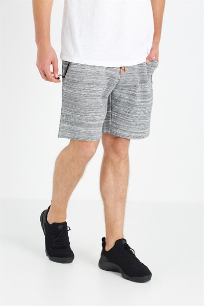 Coar Tech Track Short, MID GREY MARLE